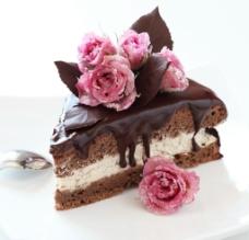 巧克力花卉蛋糕图片