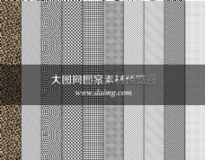 动感格子和点状背景填充图案