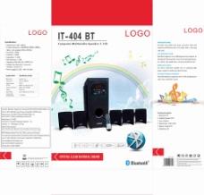 音响低音炮音符蓝牙包装设计-LYC原创