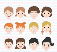 儿童头像表情