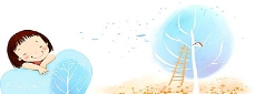 韩国水彩手绘可爱儿童海报