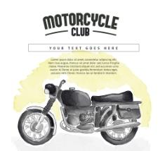 水彩画的摩托车背景