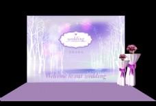 紫色婚礼设计