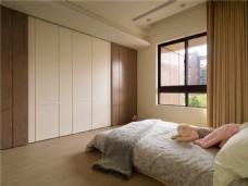 暖色简约卧室效果图