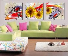 向日葵客厅装饰画