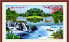 桂林山水 甲天下 客厅中堂画图片