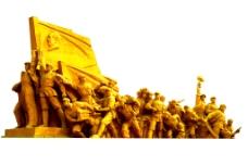 抗战胜利70周年金色雕塑