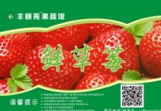 草莓不干胶图片
