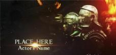 战争史诗电影片头动画AE模板