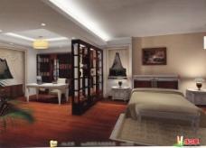 书房卧室模型