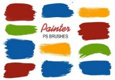 20款油漆水彩喷溅效果PS笔刷