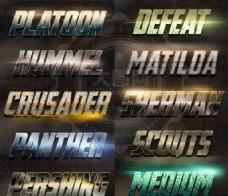 10款游戏风格3D艺术字PS样式