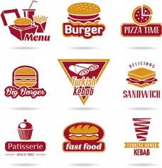 快餐美食标志