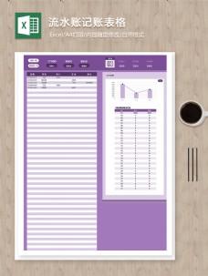 月度每日各项目流水账记账excel分析图表