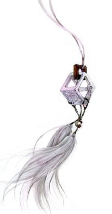 中国风古风玉佩吊坠流苏边框底纹插图素材