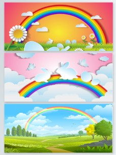 彩虹多彩创意背景图