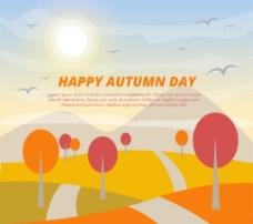丰富多彩的秋天的背景
