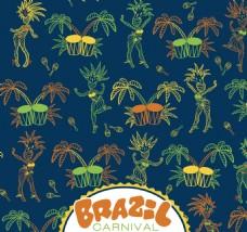 巴西线条元素背景素材