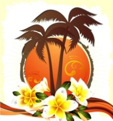 夏日椰树图片