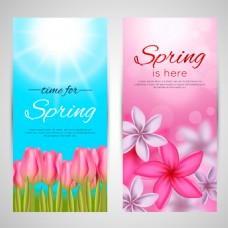唯美春天花朵促销海报设计