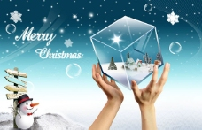 圣诞水晶方块海报