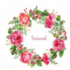 美丽玫瑰花圈图片