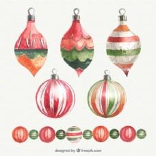 手绘圣诞装饰品