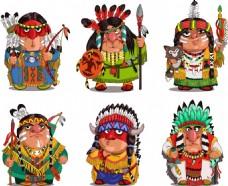 卡通印第安人