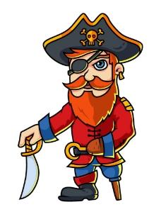 卡通海盗船长图片