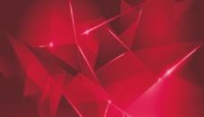 红色多面体高清背景图片