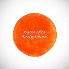 橙色圆形墨迹背景