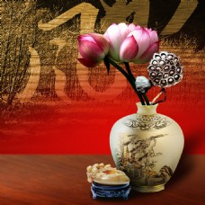 中国风陶瓷背景