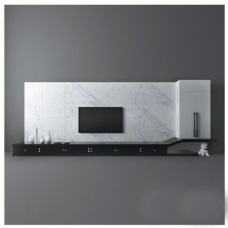 石材电视墙模型