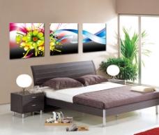 卧室背景墙装饰画