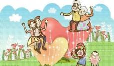 欢乐家庭 家庭生活 矢量 EPS_090