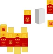酒盒包装平面图图片