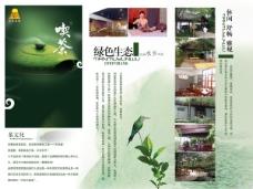 中国茶彩页折页设计