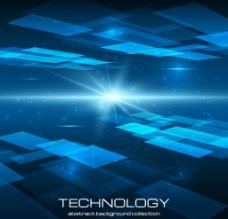 高清藍色科幻背景圖圖片