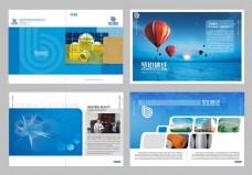 蓝色科技宣传册矢量素材
