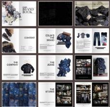 牛仔裤宣传画册素材