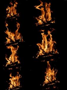 火焰分层图