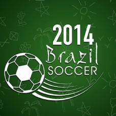绿色2014世界杯海报