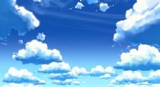 动画天空云素材图片