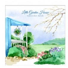 可爱的小花园洋房图片