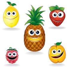 张着嘴的卡通水果