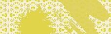 黄色 白花纹理背景