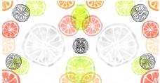 彩色夏日鲜橙矢量素材