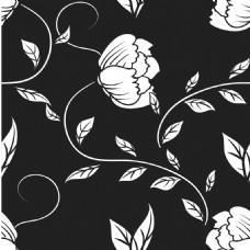 简约黑白花朵背景