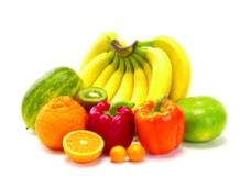 摆在一起的蔬菜水果