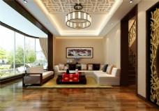 室内客厅模型室内装饰